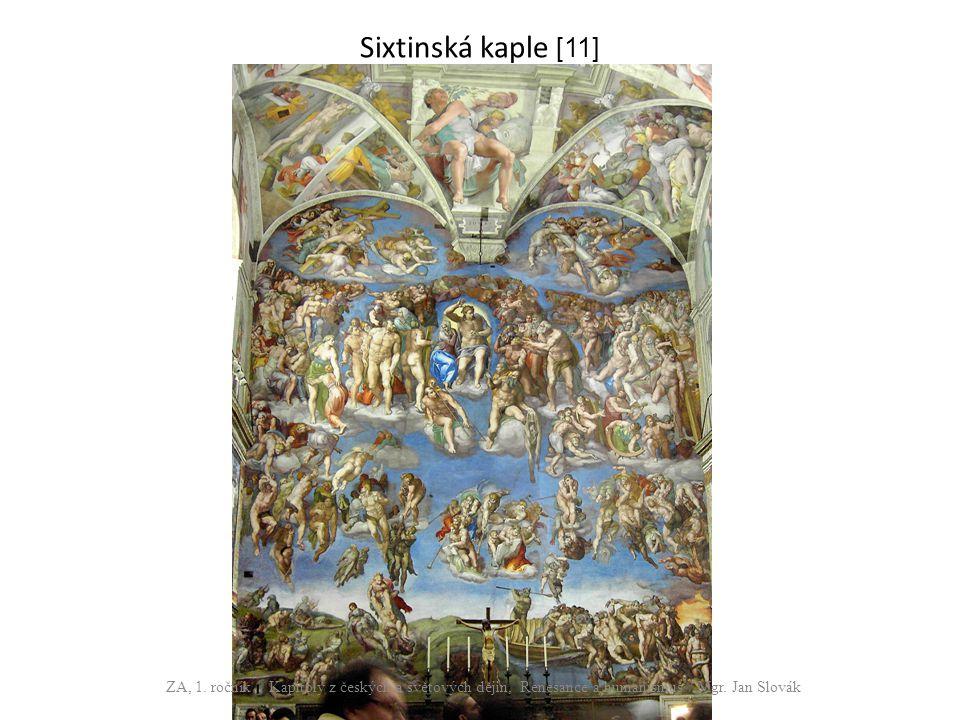 Sixtinská kaple [11] ZA, 1.